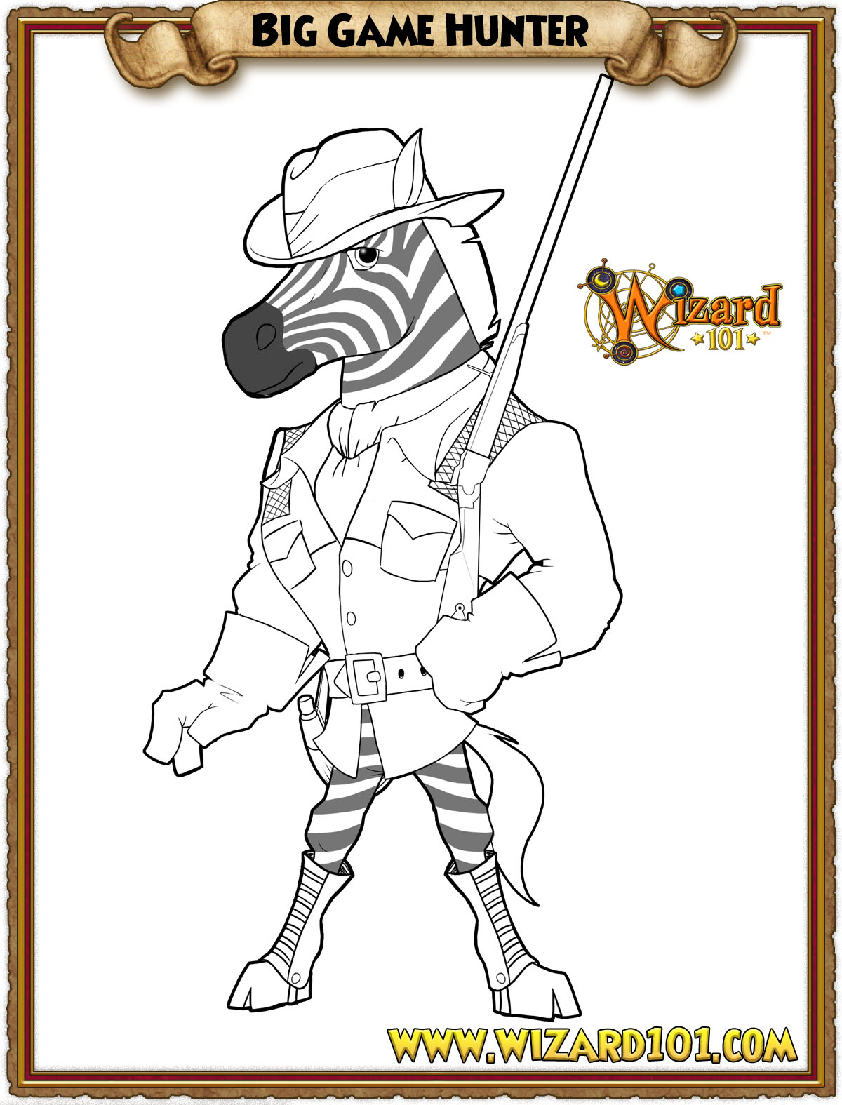 wizard and dragon coloring pages - photo#15