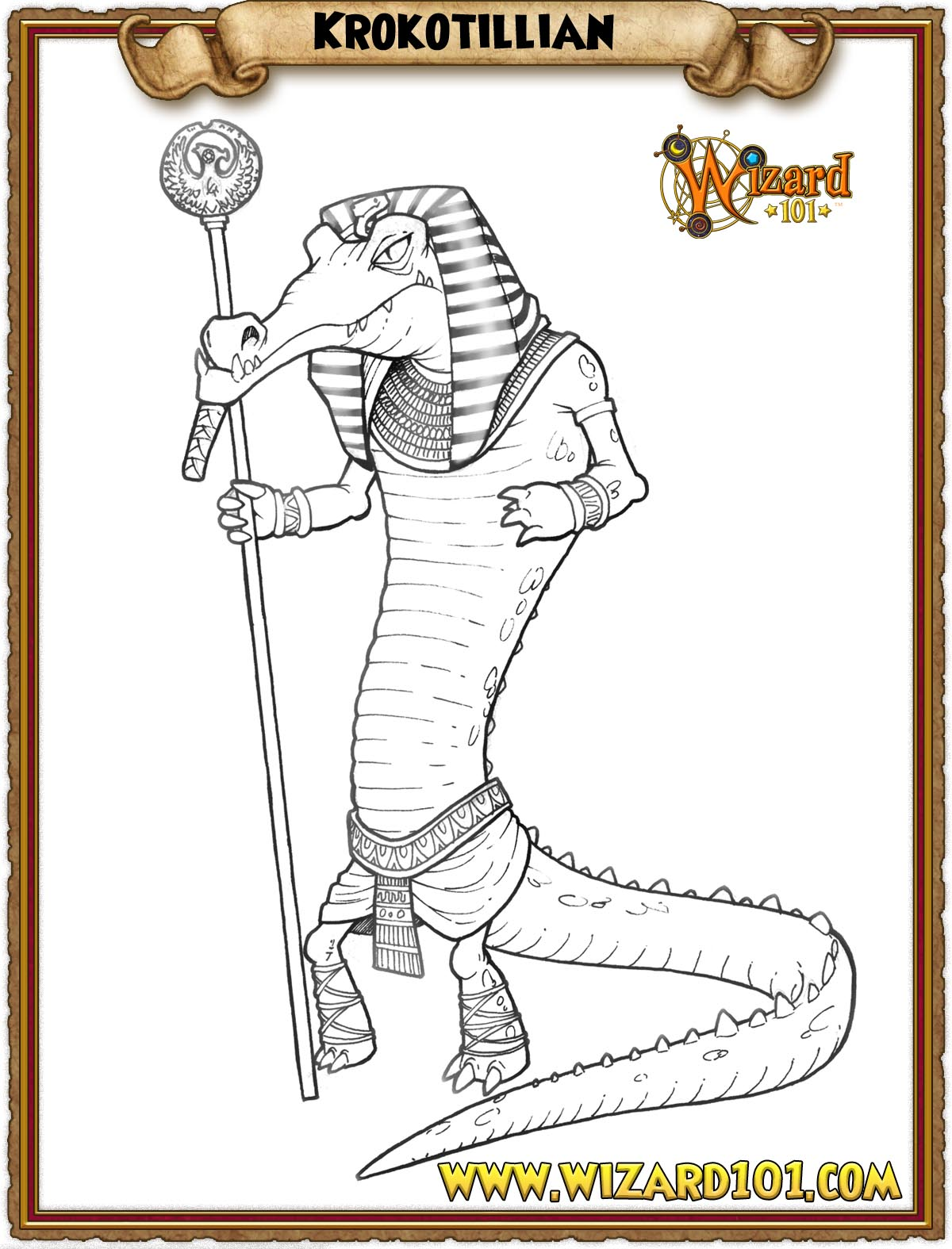 wizard101 printable coloring pages - photo#10