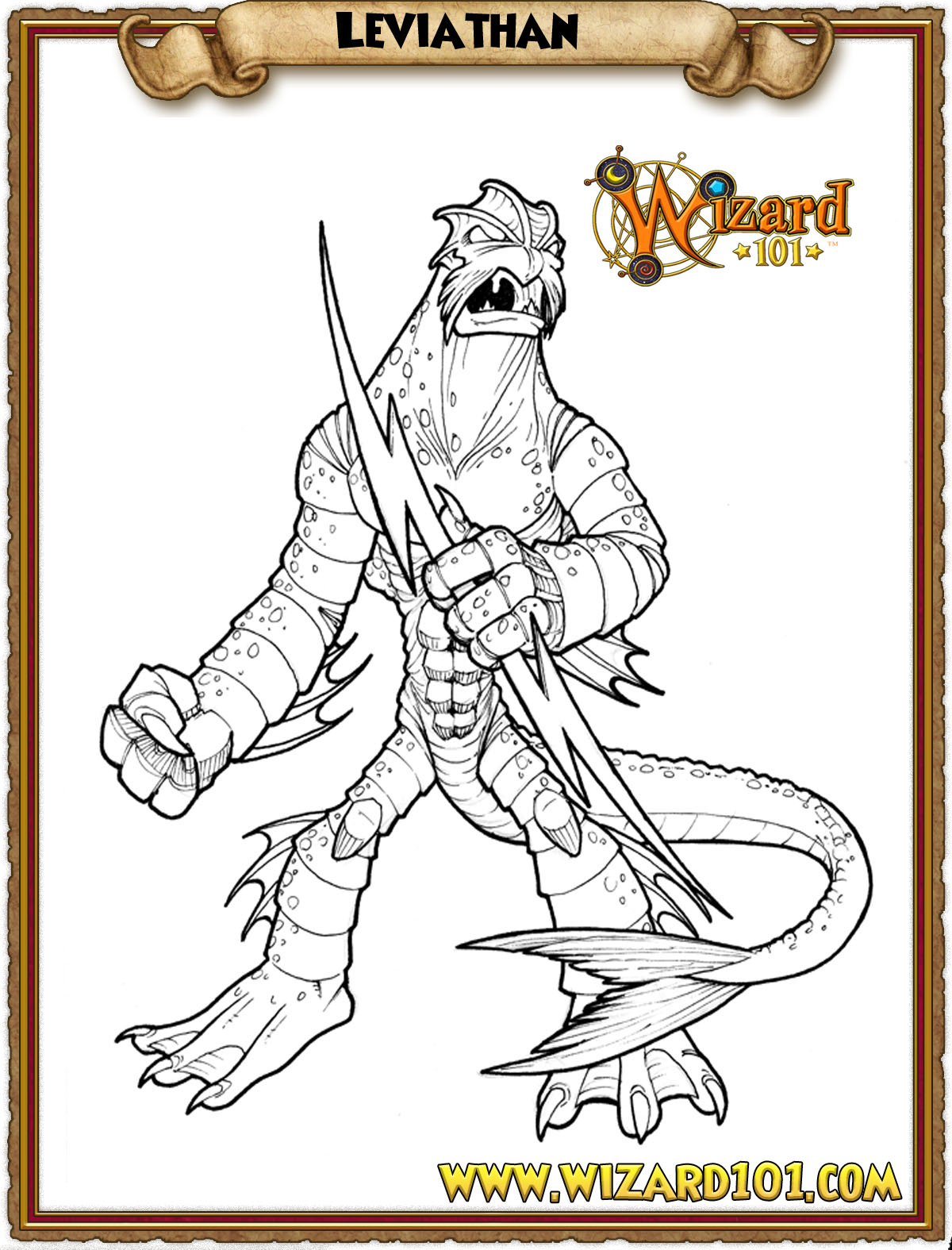 wizard101 printable coloring pages - photo#7
