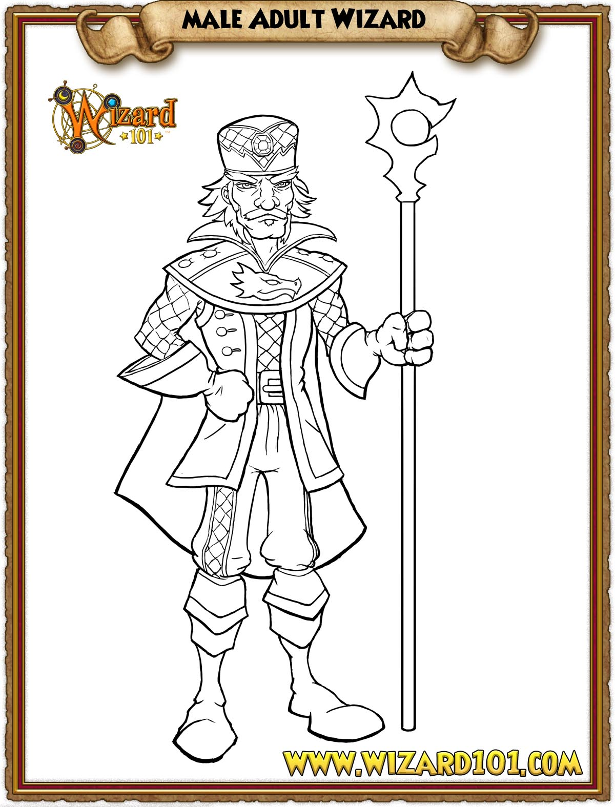 wizard101 printable coloring pages - photo#16