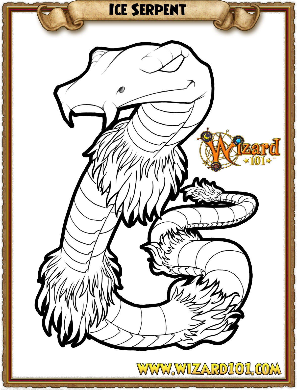 Wizard Fire Dragon Coloring Page