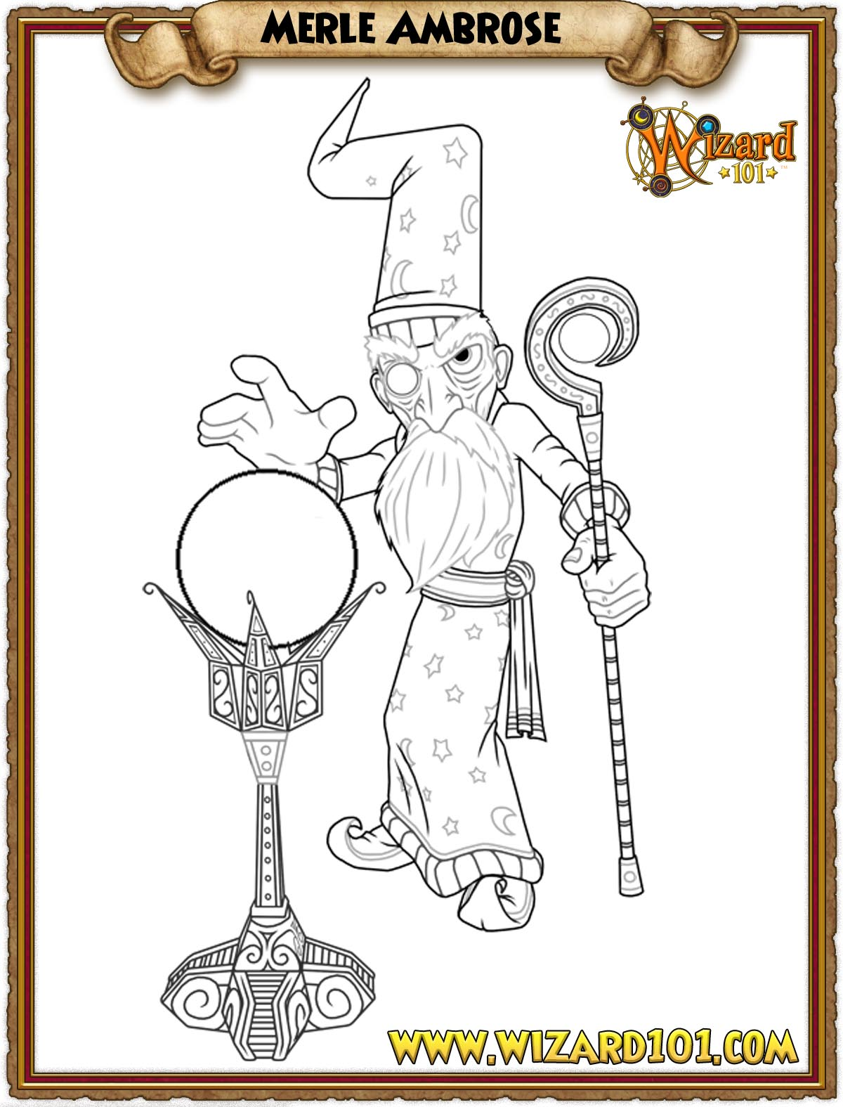wizard101 printable coloring pages - photo#13