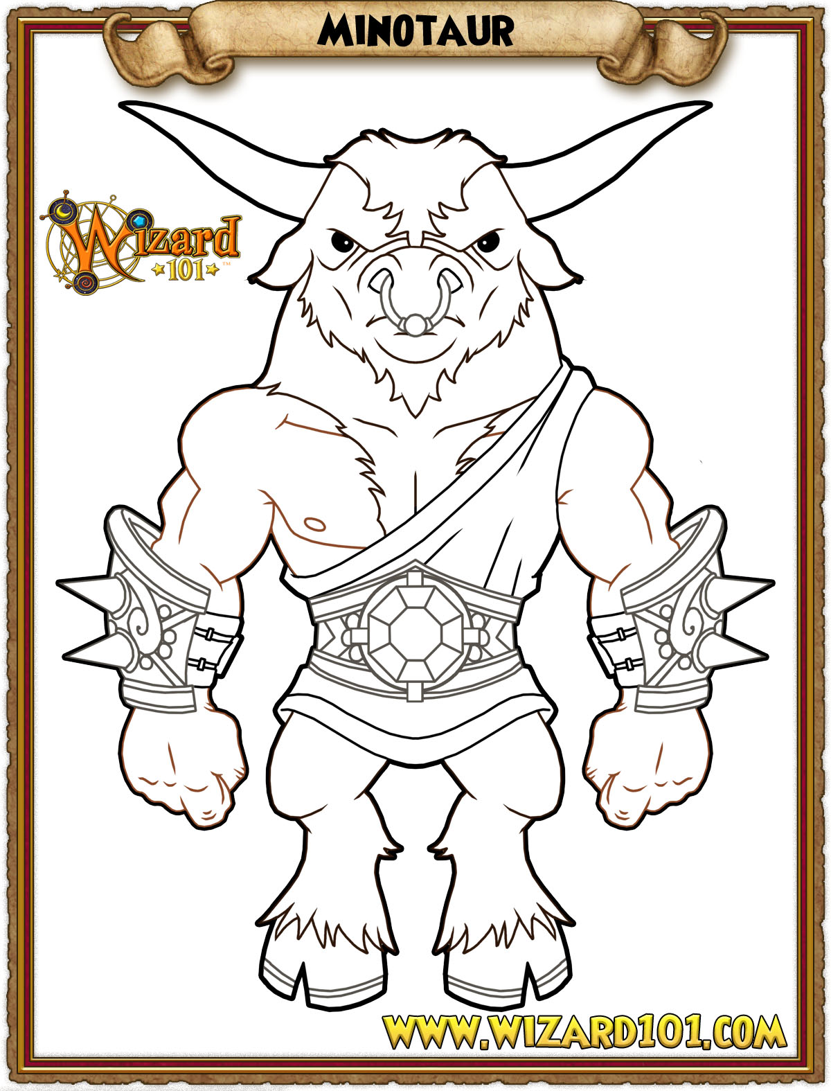 wizard101 printable coloring pages - photo#14