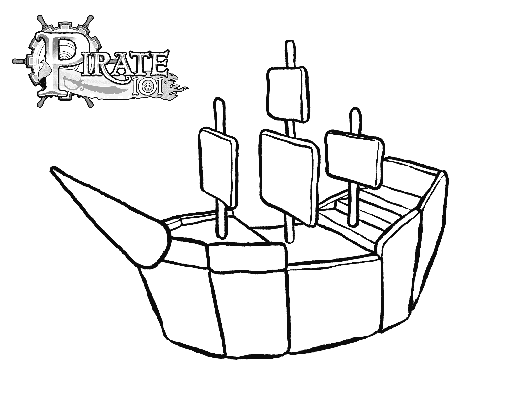 pirate ship template cake ideas and designs