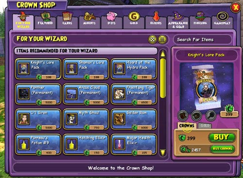 how to change your age on wizard101
