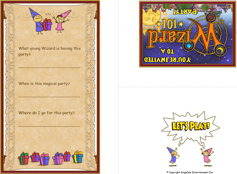 Wizard Party Ideas – How to Fill out a Birthday Party Invitation
