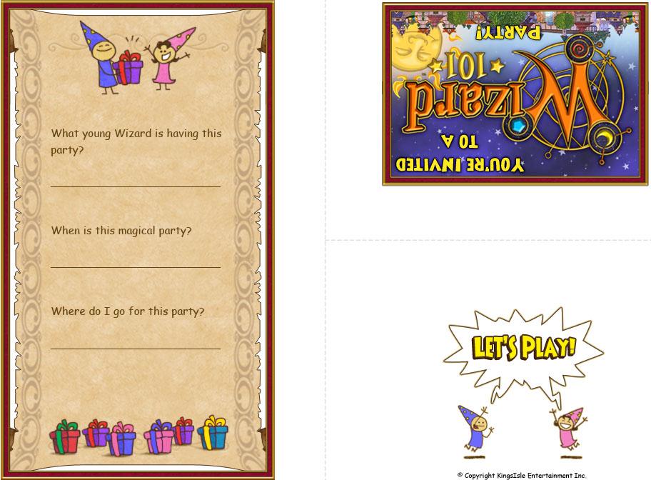 Wizard Party Ideas | Wizard101 Birthday Party