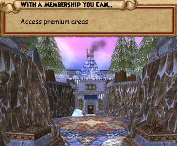 With a Wizard101 membership, you can access premium areas