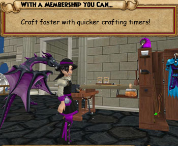 Experience quicker crafting with a Wizard101 membership
