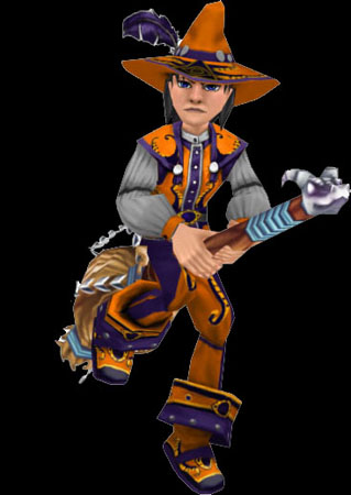 Wizard101 Broom Mount Male