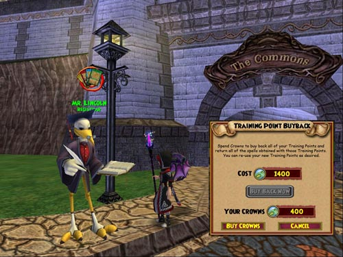 Wizard101 Training Point BuyBack