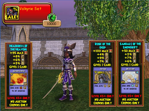Wizard101 Valkyrie Clothing