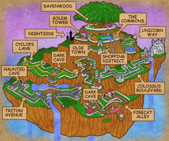 wizard101 wizard city map