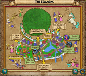 How to play wizard101 free online game your world map you can also zoom out your map by pressing the little magnifying glass on the bottom left corner this will show you an overview map of the gumiabroncs Gallery